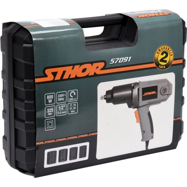 "57091 - Set Pistol de Impact Electric Sthor 1/2"", 800W, 325Nm + 4 Tubulare 17-22"