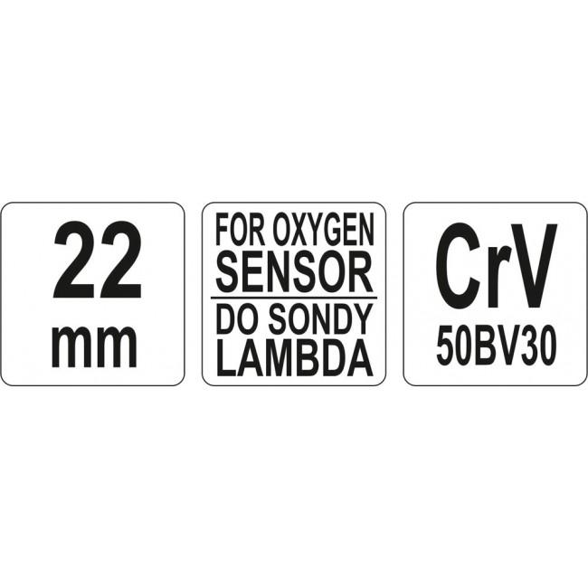 YT-1754 - Cheie Tubulara pentru Sonda Lambda 22MM - Yato