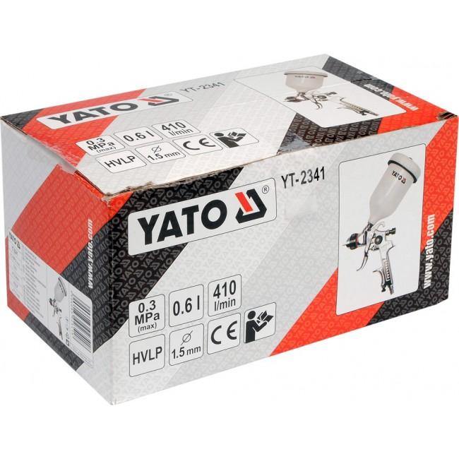 YT-2341 - Pistol de Vopsit cu Rezervor Plastic 0.6L