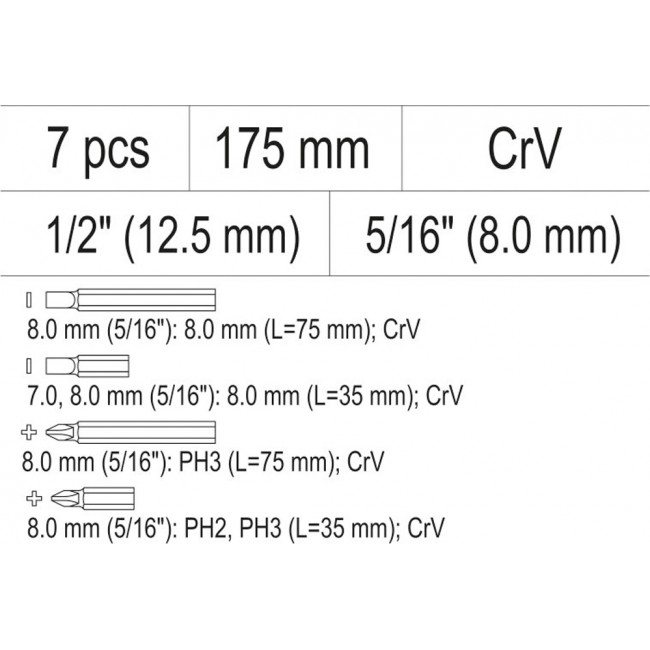 YT-28003 - Surubelnita de Impact Yato