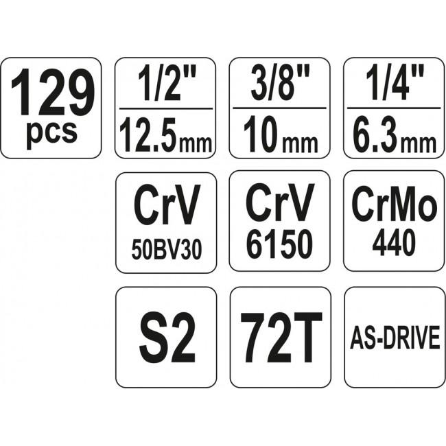 YT-38881 - Trusa Yato 129 piese