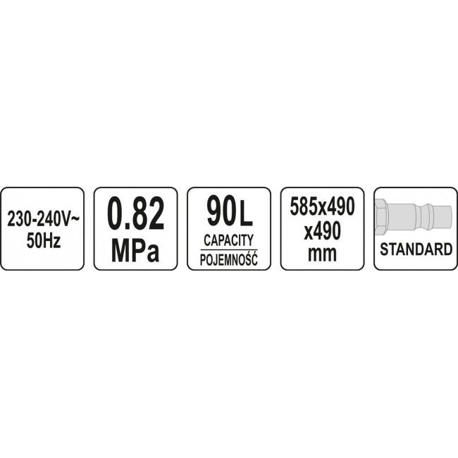 YT-55840 - CUVA PENTRU SABLARE 90L