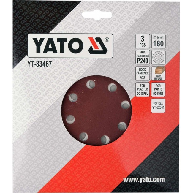 YT-83467 - DISCURI ABRAZIVE 180MM P240